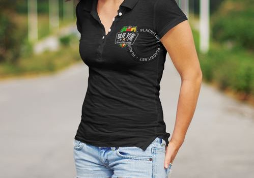 Polo-Shirt women black