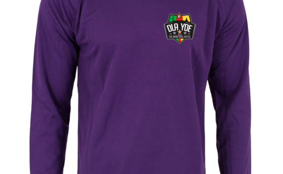 DLAvsYDE warm-up shirt men longsleeves purple black red